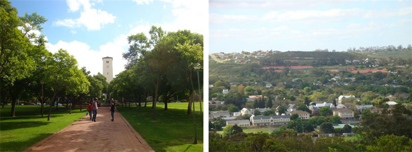 Rhodes University, Clock Tower, Administration Building, View of the City of Grahamstown